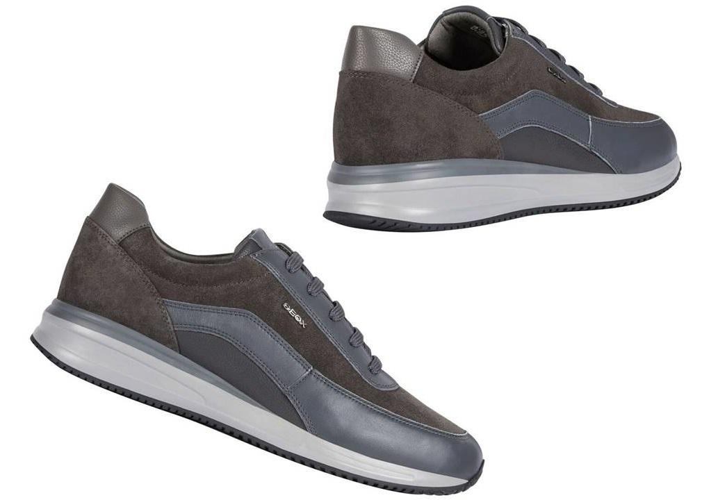 Dettagli su Geox DENNIE U920GA 08522 Grigio Sneakers Scarpe Uomo Calzature Casual