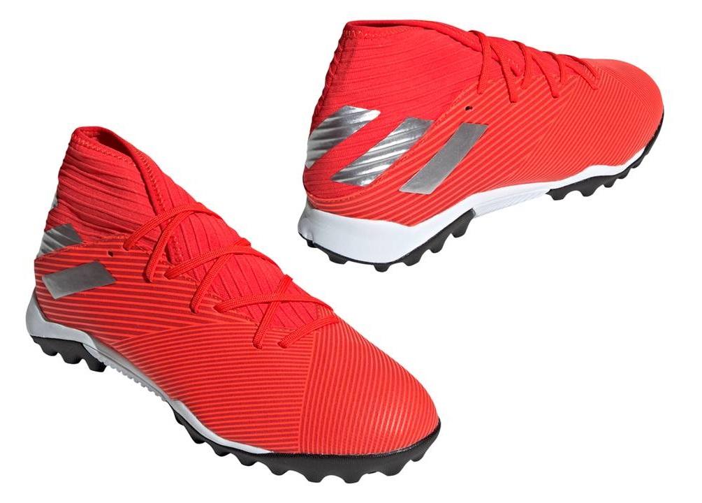 Dettagli su Adidas NEMEZIZ 19.3 TF F34427 Rosso Scarpe da Calcetto Uomo Comode e Leggere