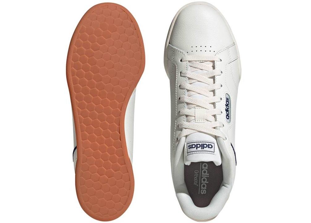 Scarpe uomo Adidas EH1875 sneaker sportive basse scuola ginnastica pelle bianche