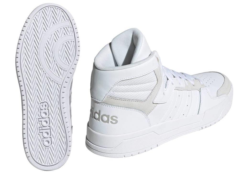 Scarpe uomo Adidas FW3457 sneakers alte sportive da ginnastica in pelle bianche