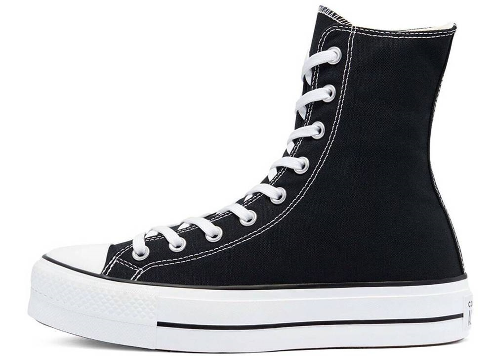 Scarpe donna Converse all star platform 170522C sneakers alte nere chuck taylor