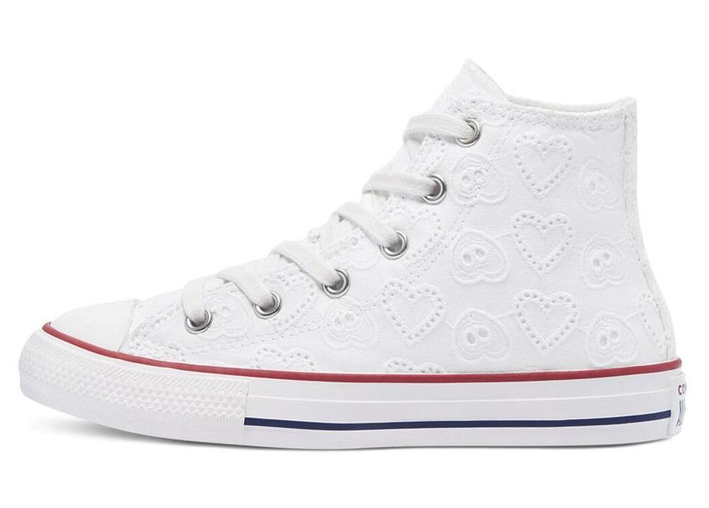 Scarpe da per donna Converse all star 671097C sneakers alte bianche chuck taylor