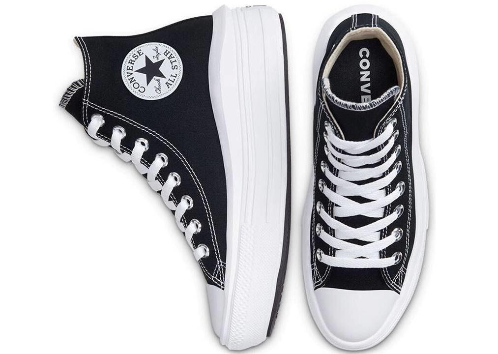 Scarpe donna Converse all star 568497C sneakers alte platform tela chuck taylor