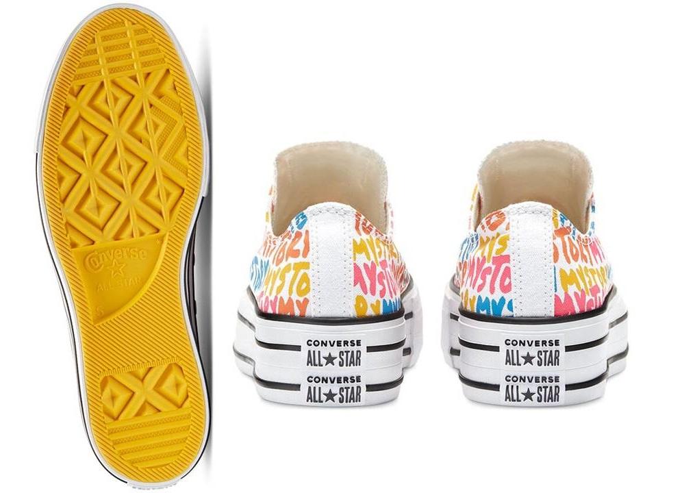 Scarpe donna Converse all star 570322C sneakers basse platform tela chuck taylor