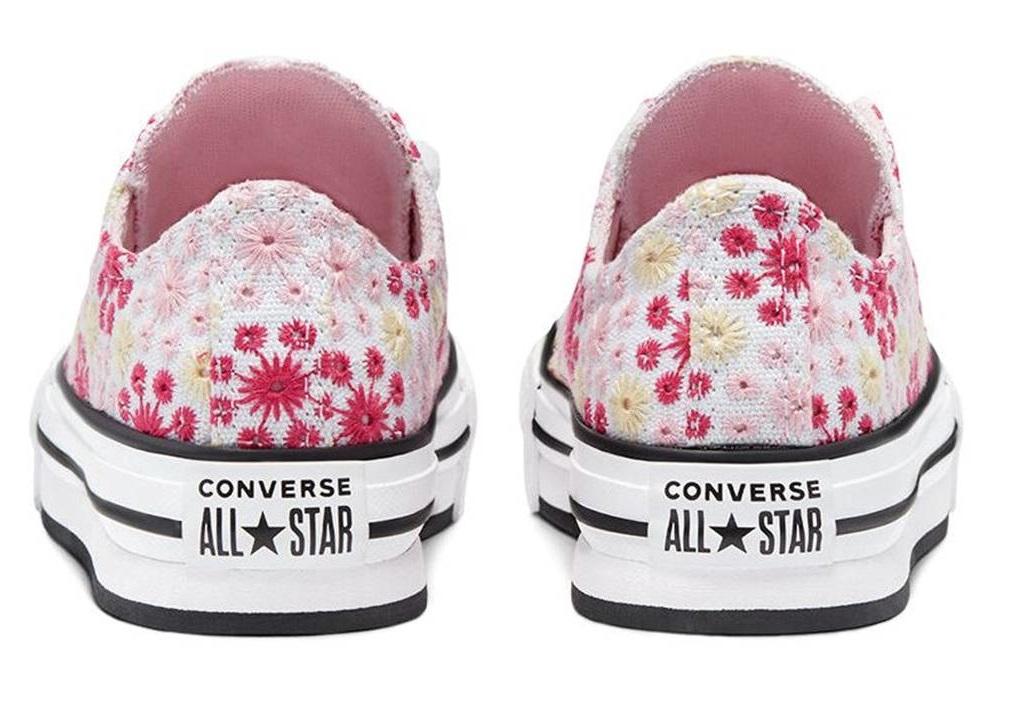 Scarpe donna Converse all star 671285C sneaker basse comode platform chuck tela
