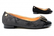Laura Biagiotti 1652 Nero Scarpe Donna Ballerina Calzature Decollete Flat Shoes
