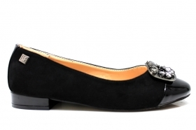 Laura Biagiotti 1654 Nero Scarpe Donna Ballerina Calzature Decollete Flat Shoes