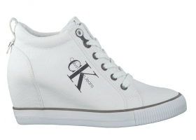 Calvin Klein Jeans RITZY CANVAS R3551 Bianco Sneakers Donna Casual