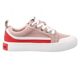 Calvin Klein Jeans DODIE COW SUEDE R0792 Rosa Scarpa Sportiva Casual