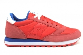 Saucony Jazz S2044 557 Rosso Sneakers Uomo Scarpa Sportiva Casual